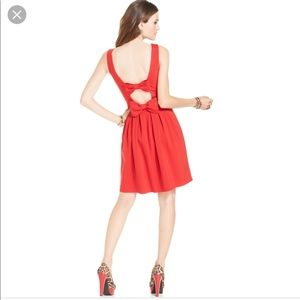 Betsey Johnson red bow dress size 6